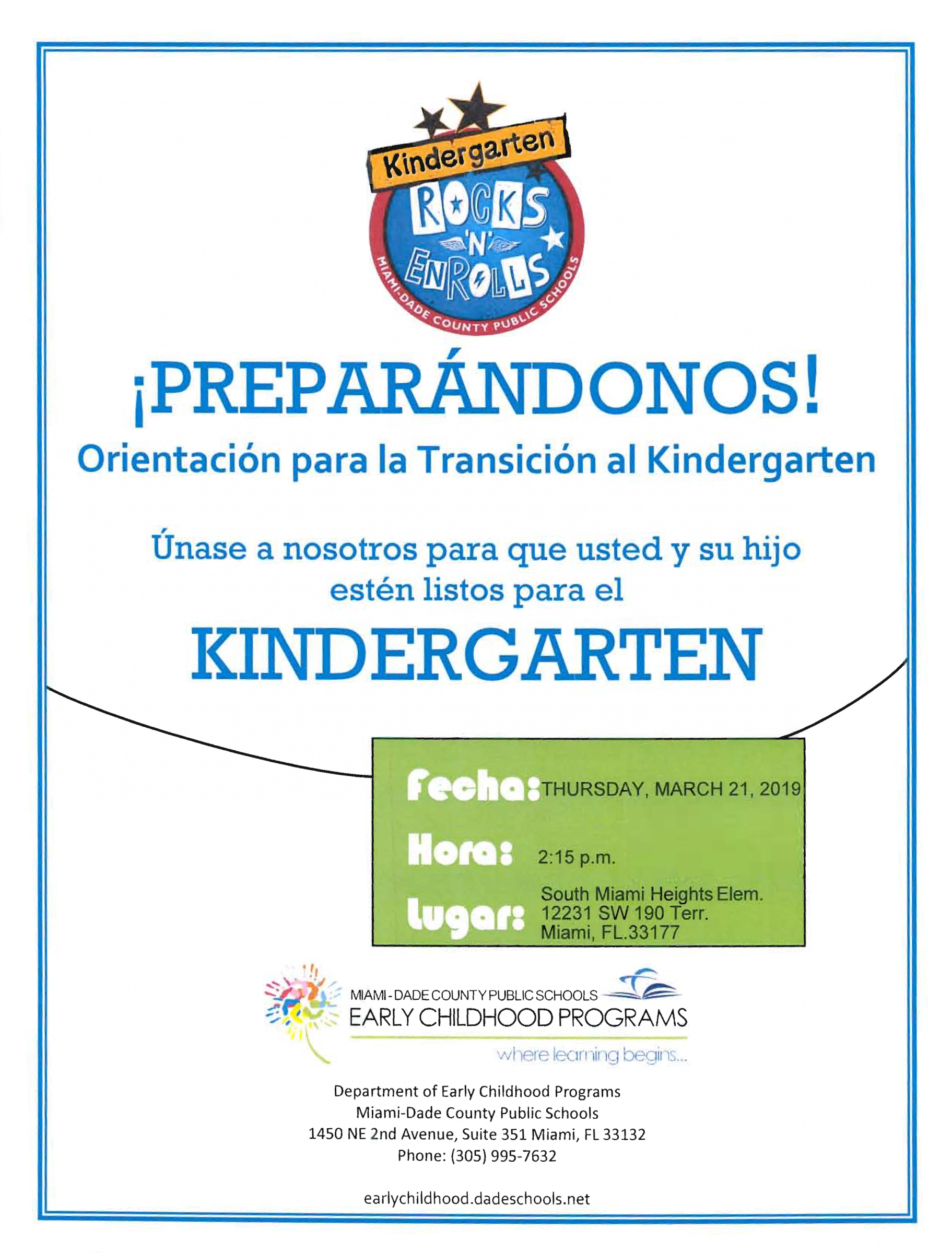 Kindergarten Rocks Flyer Page 2