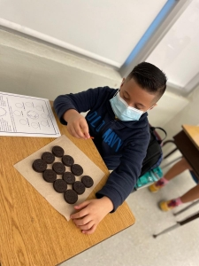 4th graders working on their Moon Phases
